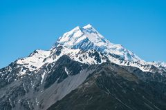 Chiuda sul punto di vista del cuoco di Mt in Nuova Zelanda Immagine Stock Libera da Diritti