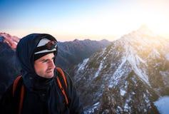 Chiuda sul ritratto dello scalatore Fotografia Stock Libera da Diritti