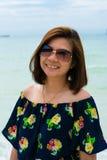 Chiuda sul ritratto di giovane donna Fotografie Stock Libere da Diritti