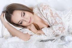 Chiuda sul ritratto di sonno Fotografia Stock Libera da Diritti