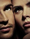 Chiuda sul ritratto di una coppia splendida Fotografia Stock