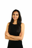 Chiuda sul ritratto di una donna indiana sorridente di affari Fotografia Stock Libera da Diritti