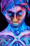 Chiuda sul ritratto UV Fotografie Stock Libere da Diritti
