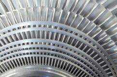 Chiuda sul rotore di una turbina a vapore Fotografia Stock