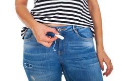Chiuda sul tampone di mestruazione immagini stock libere da diritti