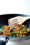 Chiuda sul wok Fotografie Stock Libere da Diritti