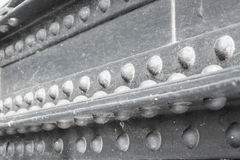 Chiuda sull'acciaio rivettato Fotografie Stock Libere da Diritti