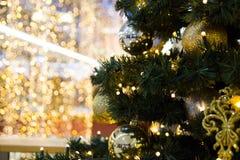 Chiuda sull'albero di Natale Fotografie Stock Libere da Diritti