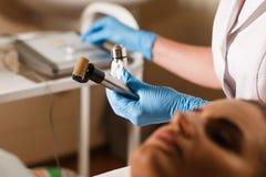 Chiuda sull'apparato di cosmetologia Immagine Stock Libera da Diritti