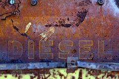 Chiuda sull'immagine del pannello diesel del trattore TD14 fotografia stock libera da diritti