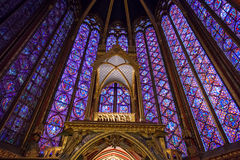 Altare in Sainte-Chapelle, Parigi, Francia Immagini Stock