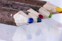 Chiuda sull'immagine delle matite di colore Fotografie Stock