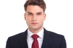 Chiuda sull'immagine di giovane uomo bello di affari Immagini Stock Libere da Diritti