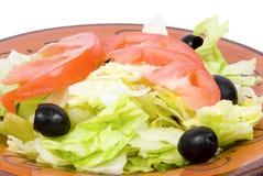Chiuda sull'insalata del pranzo Immagine Stock