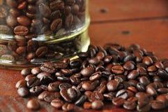 Chiuda sulla bacca di caffè immagini stock libere da diritti