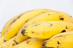 Chiuda sulla banana su backgound bianco Fotografia Stock
