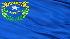 Chiuda sulla bandiera nazionale d'ondeggiamento del Nevada royalty illustrazione gratis