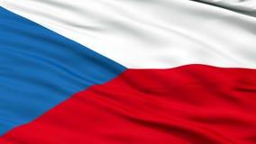Chiuda sulla bandiera nazionale d'ondeggiamento della repubblica Ceca illustrazione vettoriale