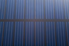 Chiuda sulla batteria della pila solare Fotografie Stock