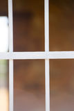 Chiuda sulla finestra della prigione delle barre d'acciaio di sicurezza Immagini Stock Libere da Diritti