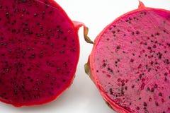 Chiuda sulla frutta del drago che è stata tagliata Fotografie Stock