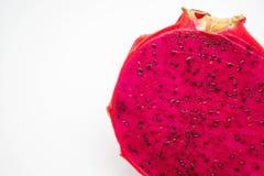 Chiuda sulla frutta del drago che è stata tagliata Fotografia Stock