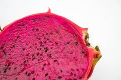 Chiuda sulla frutta del drago che è stata tagliata Fotografie Stock Libere da Diritti