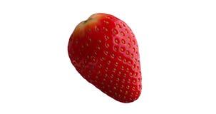 Chiuda sulla frutta rossa fresca della fragola isolata archivi video