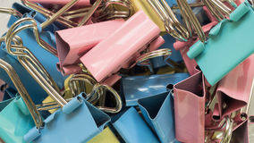 Chiuda sulla graffetta colourful Immagini Stock