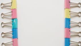 Chiuda sulla graffetta colourful Fotografia Stock
