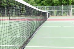 Chiuda sulla macro vista delle reti del tennis Fotografie Stock Libere da Diritti