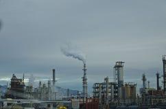 Chiuda sulla nuvola che fa la fabbrica che fa le nuvole fotografia stock