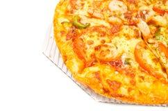 Chiuda sulla pizza del gambero Fotografia Stock Libera da Diritti