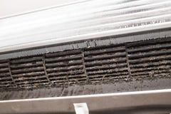 Chiuda sulla presa d'aria sporca del fungo della polvere di lerciume Fotografia Stock Libera da Diritti