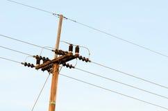 Chiuda sulla torre di energia di potere Fotografia Stock