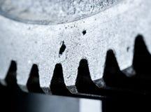 Chiuda sulla vista degli ingranaggi dal vecchio meccanismo Fotografie Stock Libere da Diritti