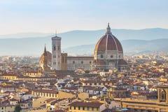 Chiuda sulla vista del duomo di Firenze in Toscana, Italia immagini stock libere da diritti