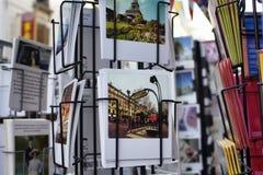 Chiuda sulla vista delle cartoline francesi Fotografie Stock Libere da Diritti