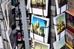 Chiuda sulla vista delle cartoline francesi Fotografia Stock Libera da Diritti