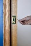 Chiuda sulla vista di una porta della tasca che è aperta Immagini Stock Libere da Diritti