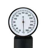 Chiuda sulla vista di uno sphygmomanometer Fotografia Stock