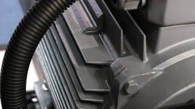 Chiuda sulle alette del motore industriale i Immagine Stock