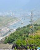Chiuda Three Gorge Dam a chiave Fotografia Stock Libera da Diritti