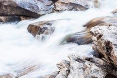 Chiusa del toro sul fiume selvaggio e scenico di Chattooga Fotografia Stock