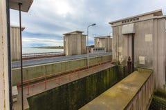 Chiusa Stevinsluis negli impianti olandesi di delta Immagine Stock Libera da Diritti
