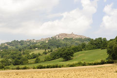 Chiusdino (Toscanië) stock foto's