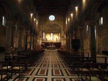 Chiusi - den romanska domkyrkan av San Secondiano Fotografering för Bildbyråer