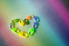 Chiusura degli indicatori a chiave del punto: Multicolore Immagine Stock Libera da Diritti