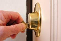 Chiusura del bullone a chiave guasto Fotografia Stock