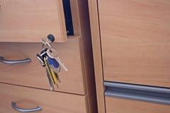Chiusura del cassetto a chiave Immagine Stock